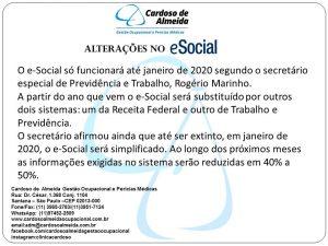 E-SOCIAL ALTERAÇÕES